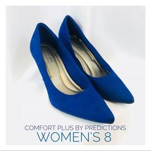 "Women's 8 Comfort Plus Royal Blue Pumps Heels 3"""